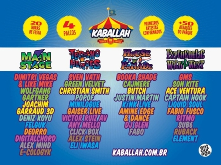 Kaballah Festival Full Line Up