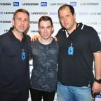 Edo Krause e Mario Sergio Albuquerque da Plus Talent e o DJ Hardwell